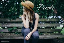 people. / inspiring, interesting and intriguing people