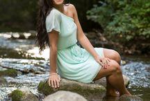 Senior Girl River Poses