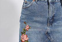 Faldas de jean