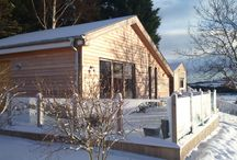 Woodside in winter / Woodside Lodge is a cosy secluded retreat, even in winter!