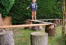 Stump balance course