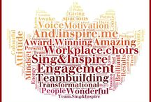 Sing & inspire  / www.singandinspire.com my lovely little powerhouse company. With my amazing team we transform and energise people & business. And.....we achieve phenomenal results  with personal, collective AND business behavioural change and return on investment.........check us out if you'd like us to help your team/organisation x / by andrea callanan (beardshaw)