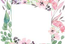 borders of flowers