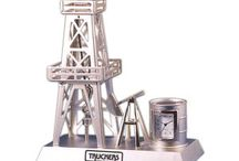 Oil Derrick Clocks / Personalized or Engraved Oil Derrick Clocks and Oil & Gas themed clocks to promote your refinery, business, event, or organization. Oil themed derrick awards, oil drop gifts & oil derrick promotional products delivered in time for your next big event! http://www.lucitetombstones.com/lucite_oil_gas_energy_clocks.htm / by Lucite Deal Toys & Embedments
