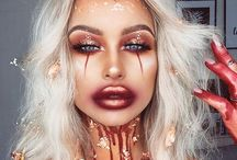 Halloween looks / Halloween, scary, pumpkin, clowns, scary makeup, halloween makeup, costume, dress up