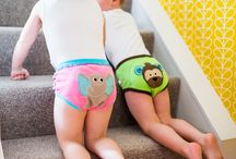 Training Pants / Organic Training Pants Those in between stages can be hard. When your youngster is not quite ready for underwear without protection, give then their 'First Pair of Underwear'. These adorable training pants are made with 100% ORGANIC  Cotton, and lined with extra layers of terry padding.