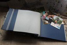 Álbumes de foto hechos a mano.