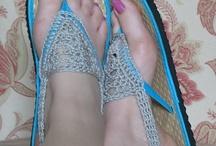 sandálias de croche