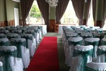 Hatton Court Hotel / Chair covers and sashes for wedding and events