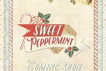 Sweet Peppermint Collection / Sweet Peppermint is a new collection, created by our very own Frank Garcia!! This gorgeous collection features beautiful mints, pinks, and muted reds to give your Christmas projects and layouts a fresh twist on vintage.