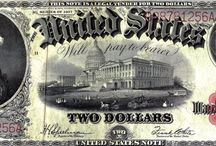 United States Notes / Colonial Currency of the 1700's, Confederate and Fractional Currency of the 1860's, United States Notes, Silver Certificates, Gold Certificates, National Currency and Federal Reserve Notes are among the currency LCGON inventories. Historically relevant, each series in part tells the story of U.S. history and economy. Artistically rendered, and symbolically rich, they are esthetically pleasing to collect.