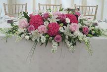 Esküvő asztaldísz