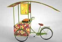 Triciclo de jugos naturales