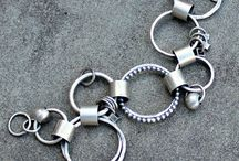 silver bracelet and bangles