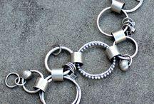 silver bracelet and bangles
