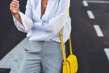 Yellow bag outfit