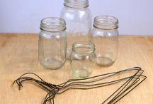 Mason jars, cans