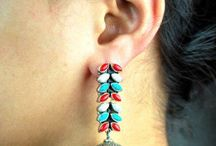 Indian Silver Earrings / Exclusive designer Sterling silver earrings from Artbugs store are available as silver studs, silver hoops and longer silver earring styles. Checkout our site www.artbugs.in for more designs in silver jewellery