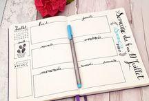 bullet journal / dessins, doodles, idées pour structurer et décorer le bujo