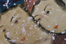 my works / My inspiration comes from myths, persian miniatures, nature, objects.