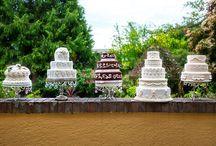 Cakes at the Villa! / Ooh La La Cupcakes/Kristopher James Photography/Villa Marco Polo Inn/Rogers Chocolates/ Vancouver Island Weddings/VictoriaBCWeddings
