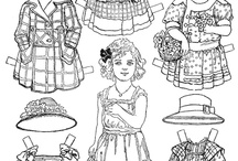 Paper dolls / Dolls to colour