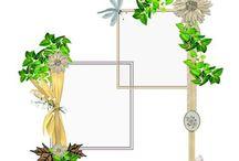 Mijn Frame / Cluster lo's / Hier mijn Frame / Cluster lo's gemaakt in de challenge in Ivy Scraps