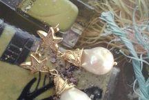 orecchini perla barocca e zirconi