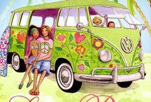 Ilustraciones camping