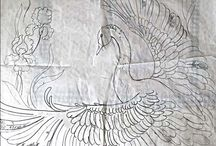 Рисунки для батика. Pictures for a baticю