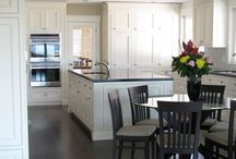 Kitchen Islands / We design & build custom inset cabinets for homeowners across Canada & the USA.  www.wesleyellen.ca   1.888.309.0616