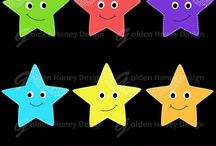 Clipart supply / Starfish clip art
