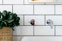 Bathrooms / Subway tile and natural wood
