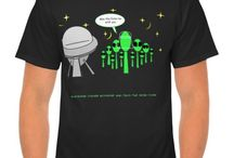 The Lunartic Alien UFO T-Shirts / Cool UFO and alien tees for men, women and kids.