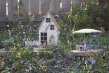 Out Door Fairy Gardens in My Gardens / 2014 and it's finally time to start outdoor fairy gardening. Such a long winter. First our door fairy garden of the year started May 8th