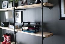 Wall-mounted storage