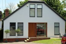 Charlton Kings 2013 / The homeowner wanted to give this house a modern twist, so we worked with her to achieve this. The bifolds are in Antique Grey and the paineted render finish sets the colour off nicely.