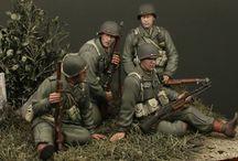 figurines troupes alliées / figurine maquette
