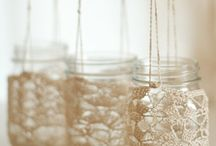 Mason jars / I adore decorating and repurposing mason jars!!!