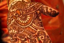 Mehendi and tatooes