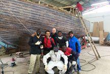 Trans Island Projetc / Progetto con l'associazione Lisca Bianca di Palermo per cooperazione sociale e non solo. Sperimentazione navigazione con stampante 3D  rotta Palermo Cagliari
