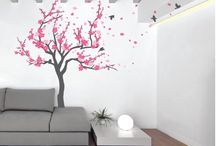 Tree Wall Decals / Bring the outdoors into your home with our Tree Wall Decals. We have cherry blossom trees, tree branches trees with birds, birch trees. Check out the application video by the description section of all our product. They are easy to apply and leave no residue which makes them the perfect Do-It-Yourself home decorating option.