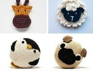 crochet animal heads