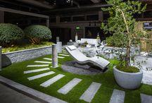 """Showgarten Giardina Zurigo / """"bella vita"""" uno spazio dove poter passare dei momenti in compagnia, rilassarsi e lasciarsi coccolare. Creato con il granito di Lodrino."""