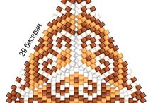 треугольники из бисера
