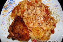 Φαγητό κοτόπουλο με χυλοπίτες