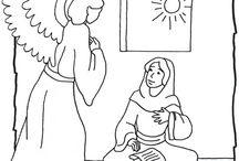 Kerst een engel bij Maria (christmas angel visits mary)