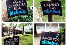 letreros boda