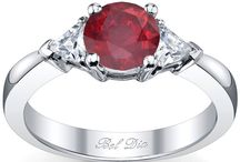Ruby Engagement Rings / Rubies are a marvelous representation of the vitality and fiery warmth present in a devoted relationship. When you decide on a ruby for your engagement ring gemstone, you courageously tell the world that your bond with your beloved is based in friendship and has great strength and integrity. We use only natural rubies in this amazing collection.