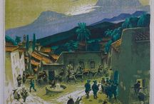 Gustave Baumann / Gustave Baumann (1881 - 1971) Color Woodblock Prints